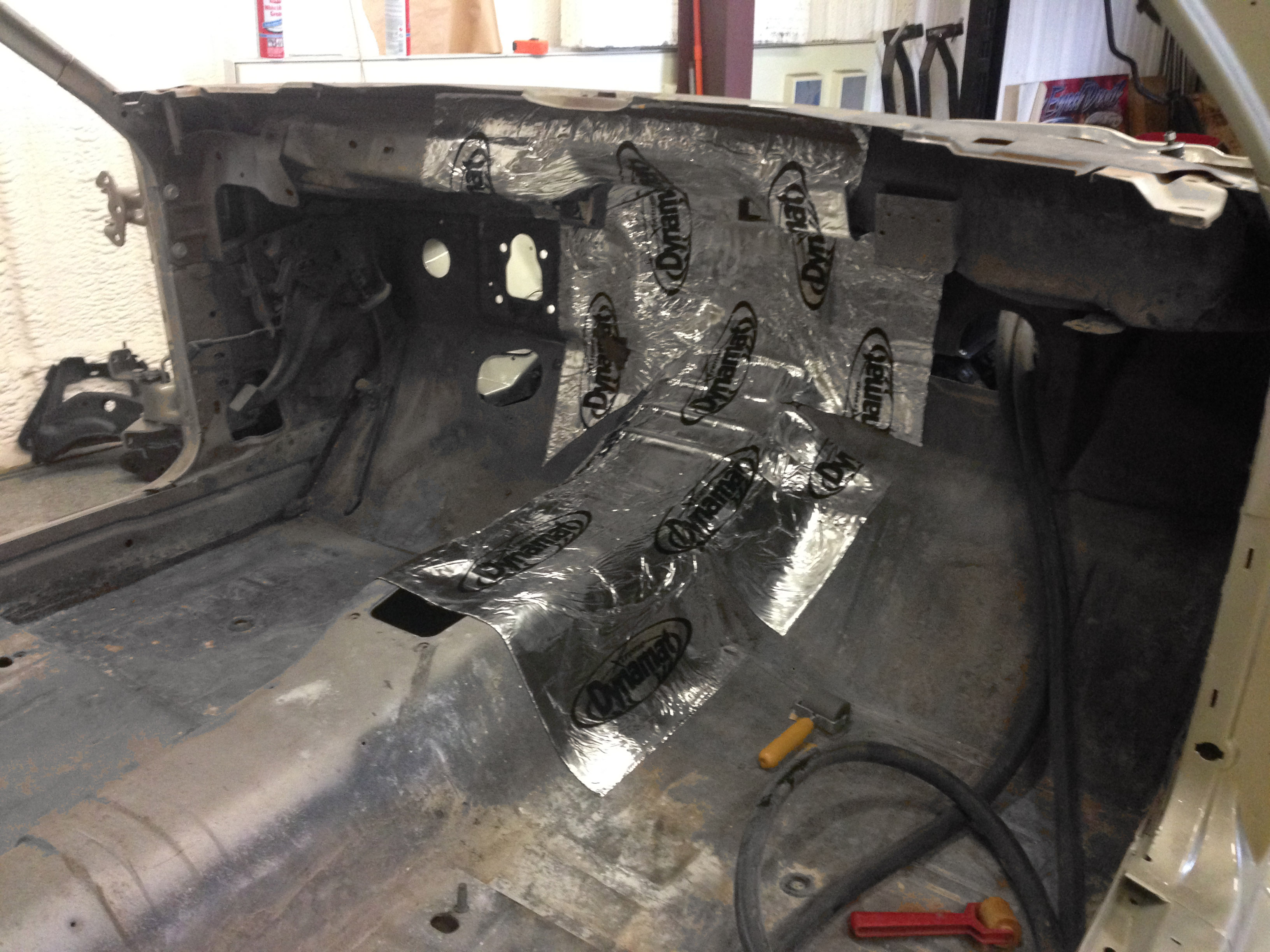 Gutted interior getting Dynamat