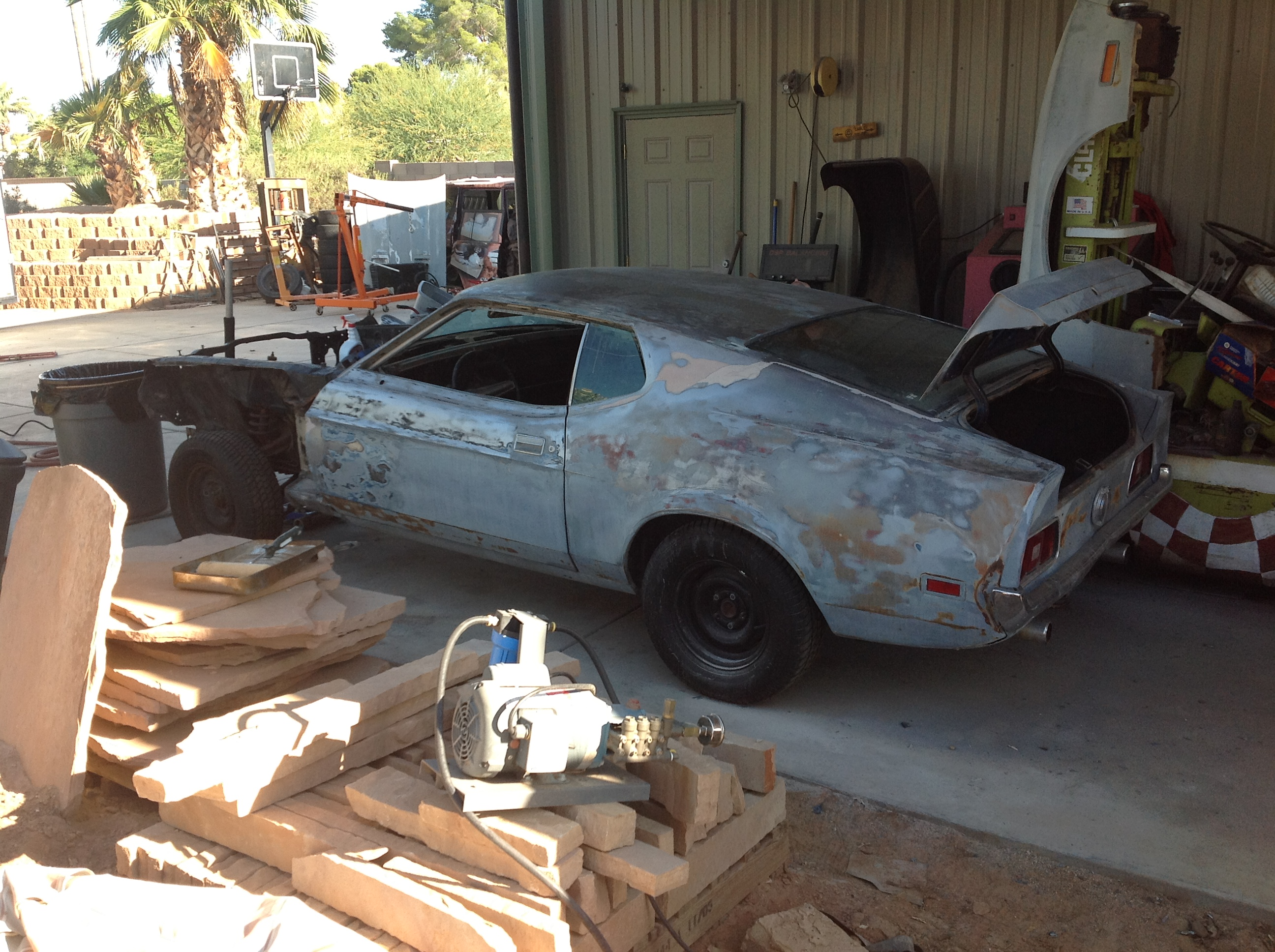 Another before picture of our 71 Mustang Mach one