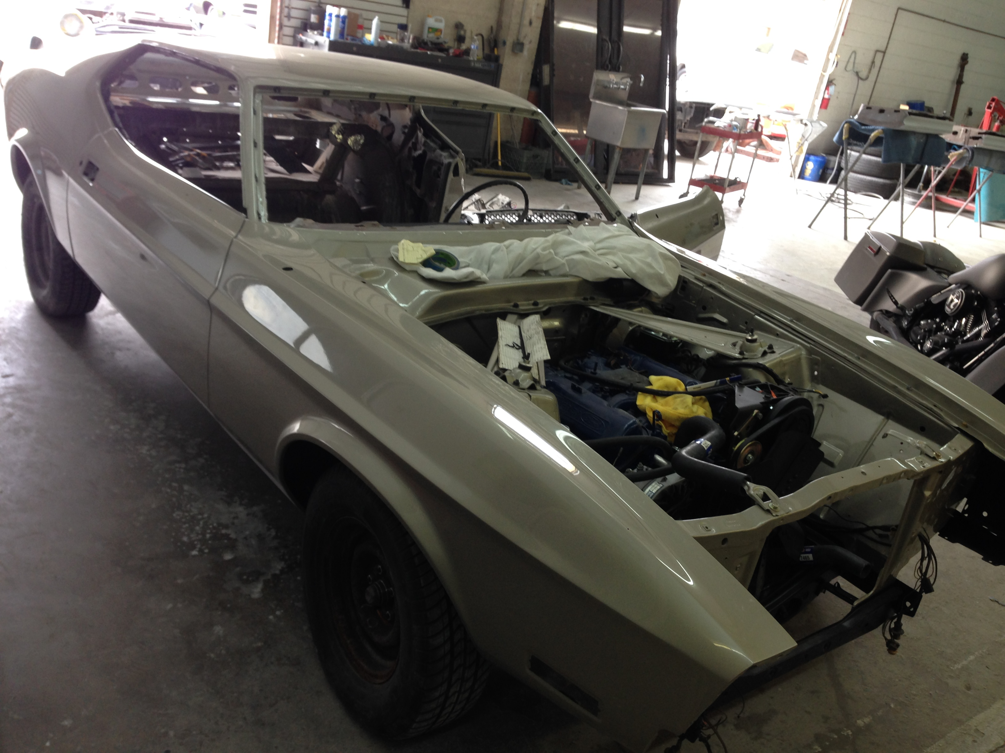 Fenders on our 71 Mach one